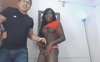 Ebony TS huge cock