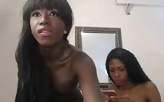 Ebony shemale ass fucks other tranny webcam