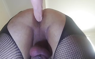 Hard machine fuck with 6 inch dildo including multiple anal orgasms
